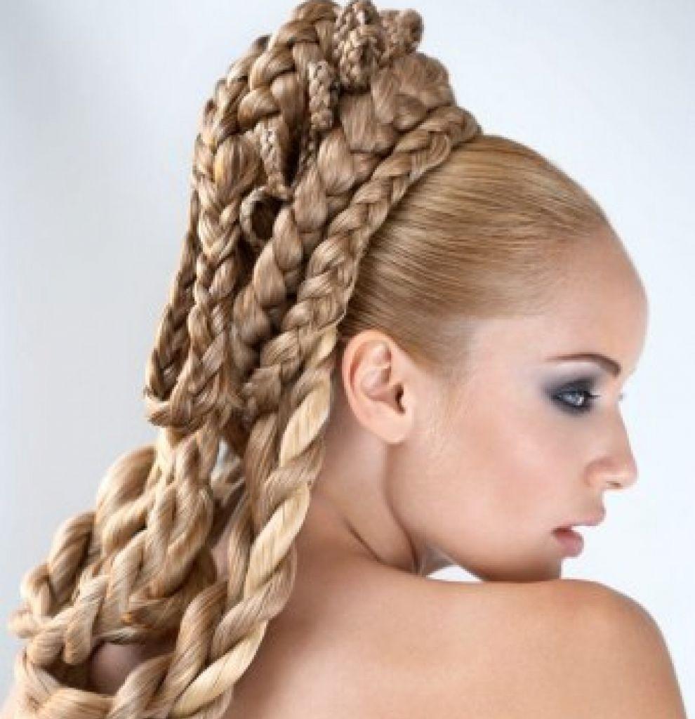 Прически на средние волосы в домашних