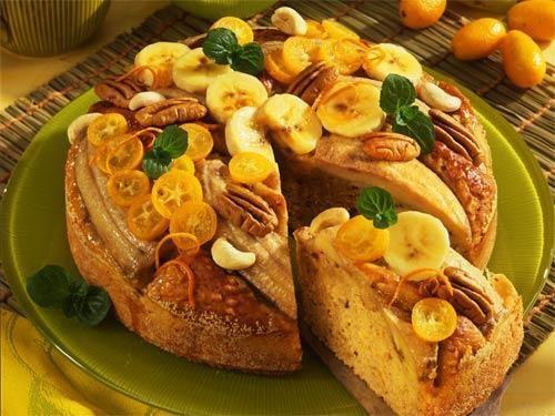 Рецепт приготовления бананово-орехового хлеба.