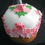 Цветочный пасхальный кулич