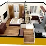 Dizayn intrriera odnokomnatnoy kvartiri 150x150 Дизайн маленькой ванной комнаты