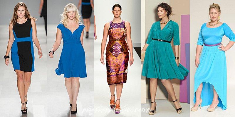 Элегантные платья для полных женщин и девушек