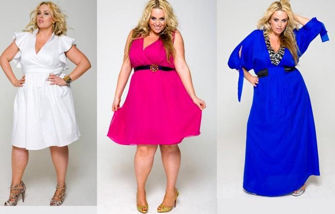 Модные модели летних платьев для полных
