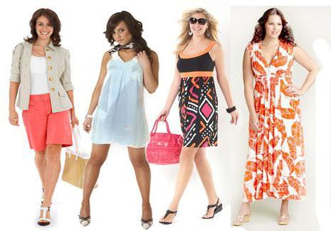 Модные платья и фасоны для полных женщин