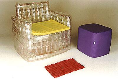 Кресло из пластиковых бутылок своими руками.
