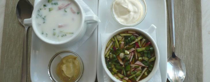 Быстрые летние блюда: окрошка на кефире и на квасе