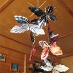 Бабочки веером