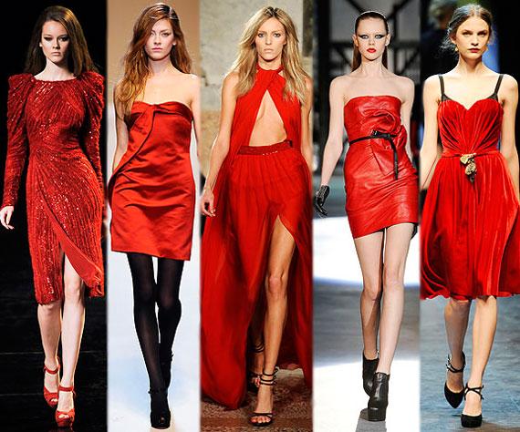 Новинки платьев красного цвета