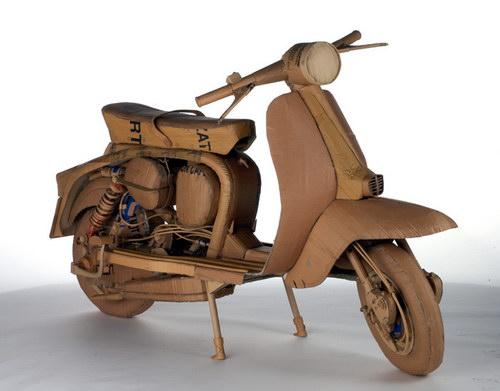 Мотоцикл из картона