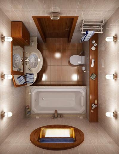 Ocveschenie v malenkoy vannoy Дизайн маленькой ванной комнаты