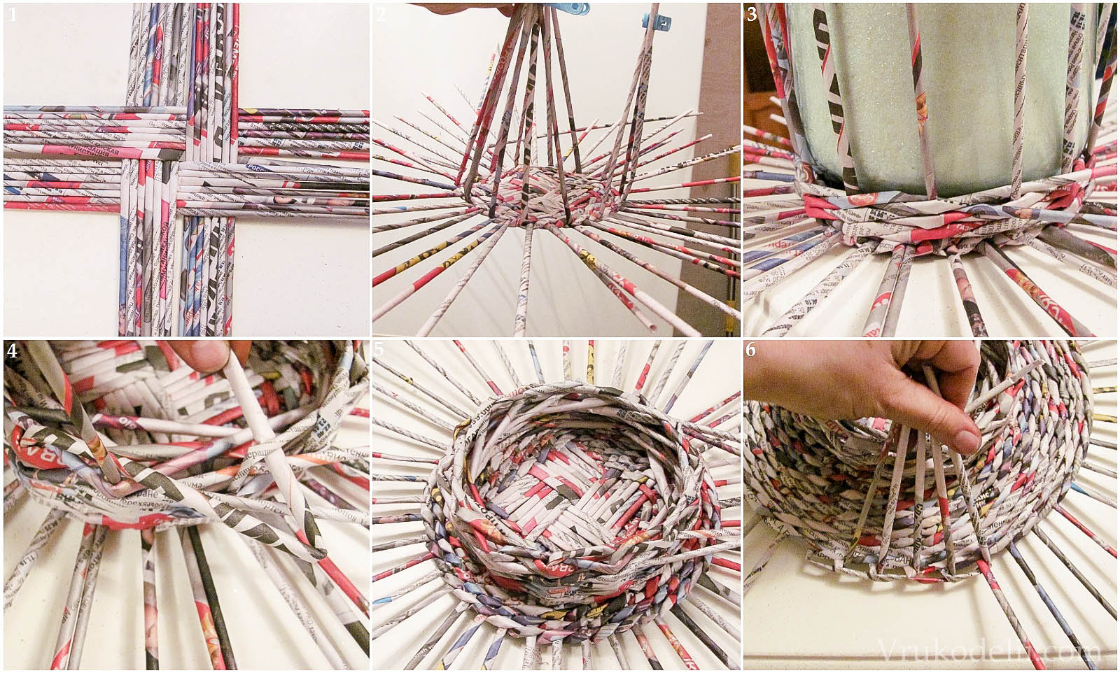 Газетные трубочки для плетения своими руками