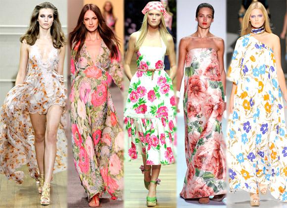 Модные сарафаны в цветочек