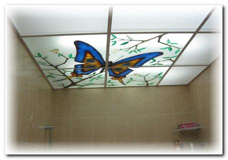 Steklyanniy potolok Дизайн маленькой ванной комнаты