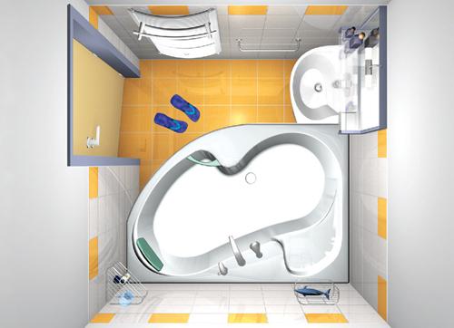 Vannaja holostjaka Дизайн маленькой ванной комнаты