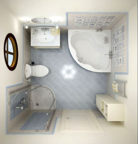 dizajn malenkoj vannoj komnati Дизайн маленькой ванной комнаты