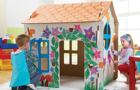 Разукрашенный домик для детей