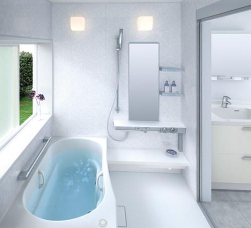 Освещение для маленькой ванной комнаты