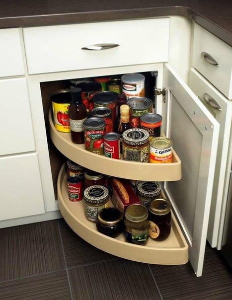 Вместительные кухонные шкафчики