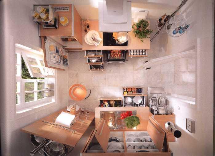 Многофункциональная мебель для маленькой кухни