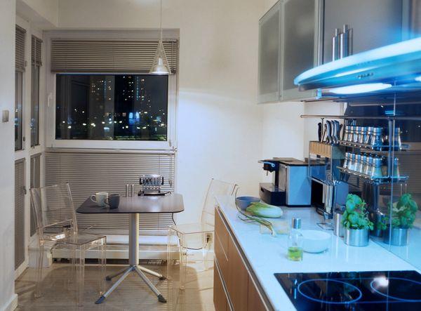 Освещение и дизайн маленьких кухонь