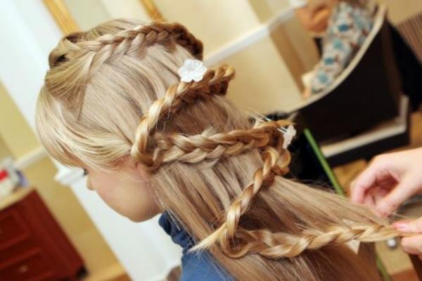 Красивые причёски для девочек своими руками