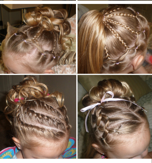 Причёски для девочек в домашних условиях