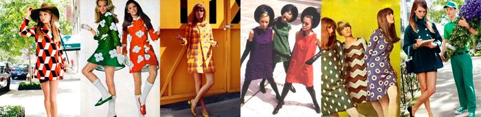 Богемные платья 60-х годов