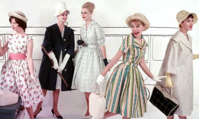 Мода 50-х годов: акцент на пышные юбки и узкую талию