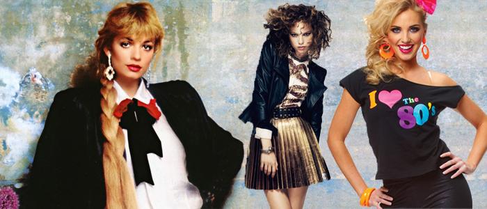 Тёмные тона в моде 80-х