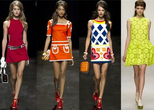 Модные платья - стиль 60-х