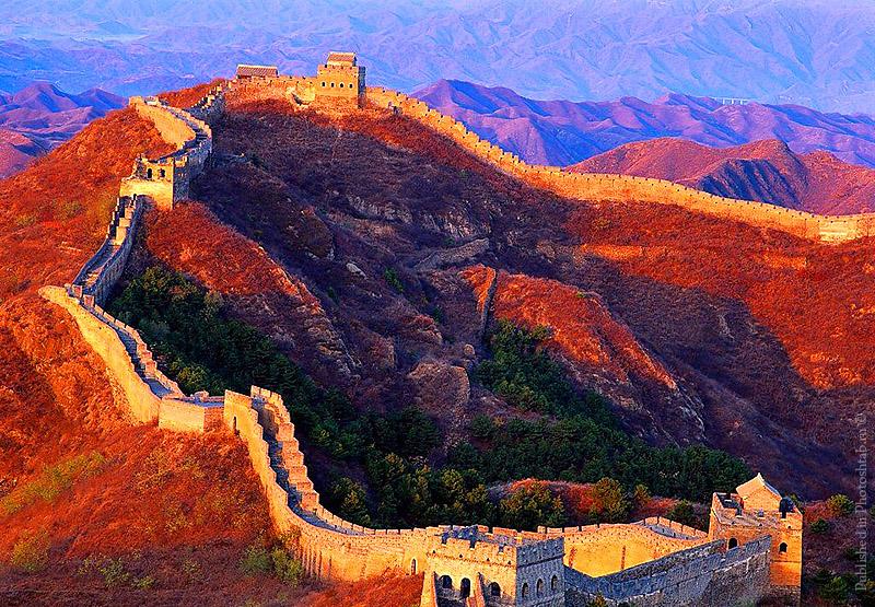 Великая Китайская стена в начале осени