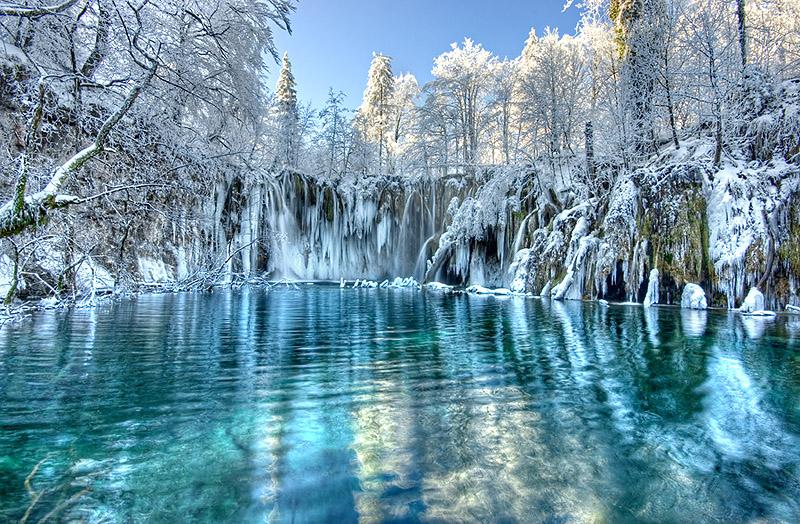 Зима в Плитвицком парке