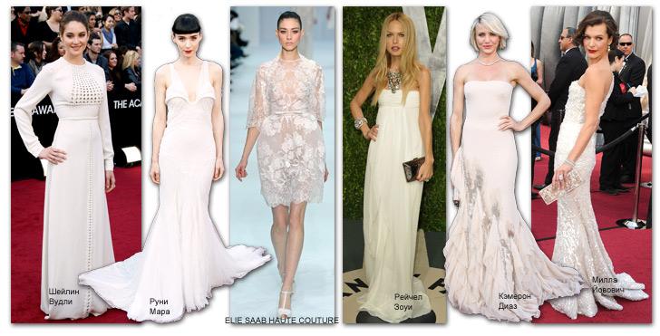 Белые новогодние платья знаменитостей