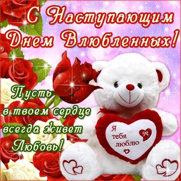 Красивое поздравление девушки с днем святого валентина