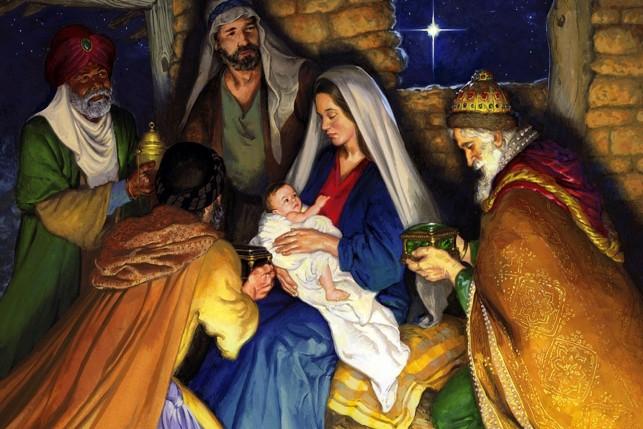 Сегодня Ангелы спускаются с небес, С собой несут благую весть, Всем дарят чудо, волшебство, Вот наступило Рождество!